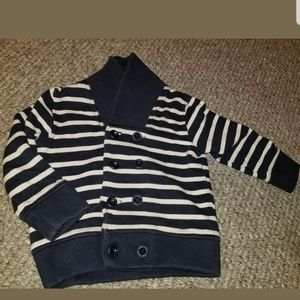 GYMBOREE NAVY SHAWL COLLAR CARDIGAN Sweatshirt